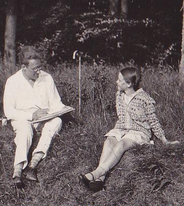 Wolfgang Schaper porträtiert seine Nichte Elisabeth Noelle (Kölpinsee, 1928)