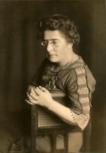 Adeline Rittershaus (1914; Franz Schmelhaus, University Archives Zurich)