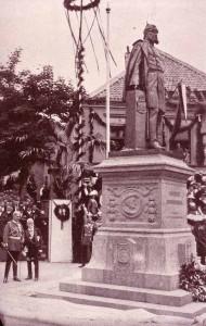 Fritz Schaper und Kaiser Wilhelm II. in Geldern bei der Einweihung des Denkmals für Wilhelm I. (1913)