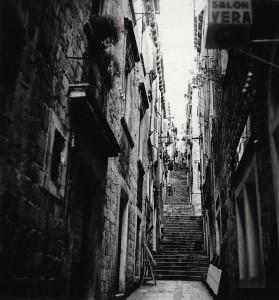 Gasse in Dubrovnik (Foto: Elisabeth Noelle, 1936)